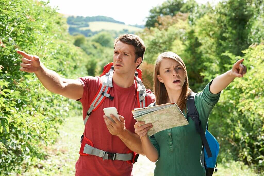 couple disagreeing about where to go