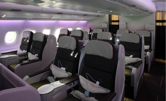 KLM business class-