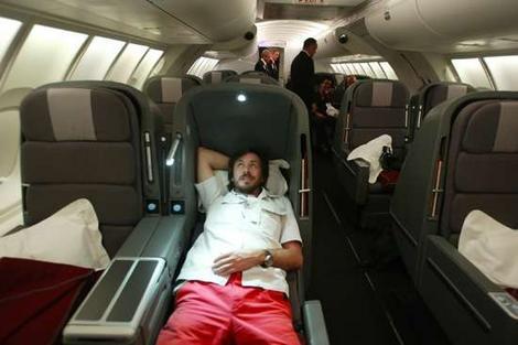 Qantas Business Class-