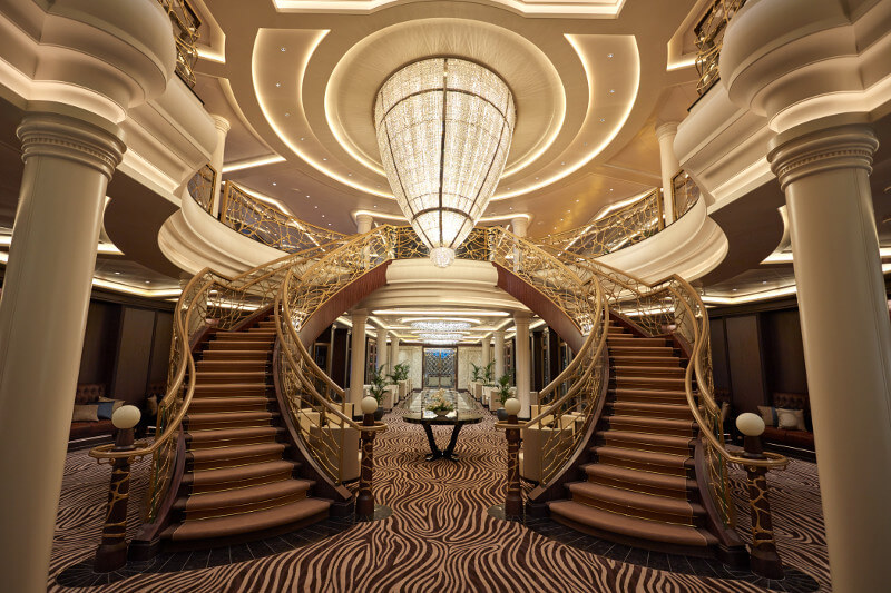 Seven Seas Cruise Ship Atrium or lobby