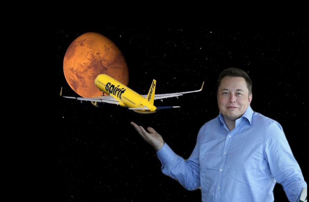Elon Musk and Spirit Airlines go to Mars