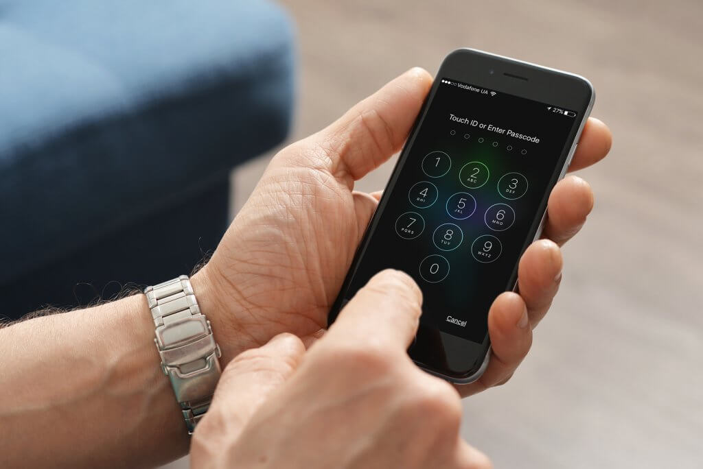 iPhone 6 with passcode