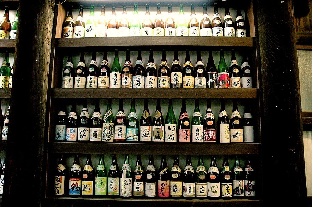 Wall of Sake in Japan