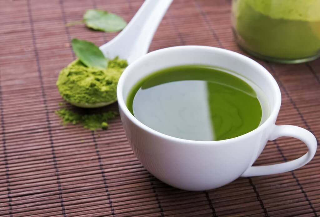Green tea with matcha