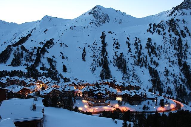 Luxury vacation rental overlooking alpine village